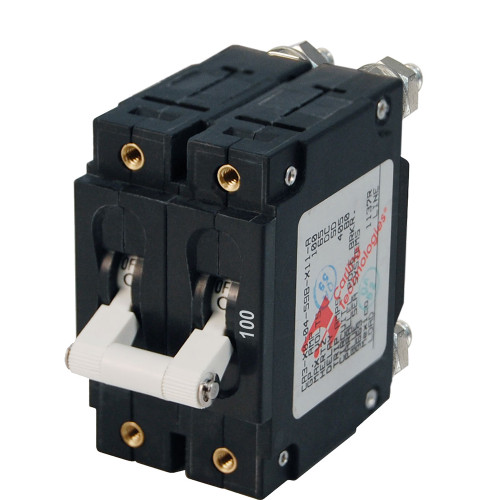 Blue Sea 7258 C-Series Double Pole Circuit Breaker - 100A