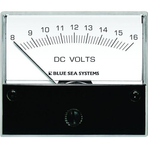 "Blue Sea 8003 DC Analog Voltmeter - 2-3\/4"" Face, 8-16 Volts DC"