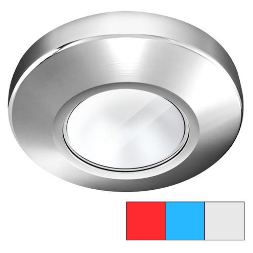 i2Systems Profile P1120 Tri-Light Surface Light - Red, Cool White  Blue - Chrome Finish
