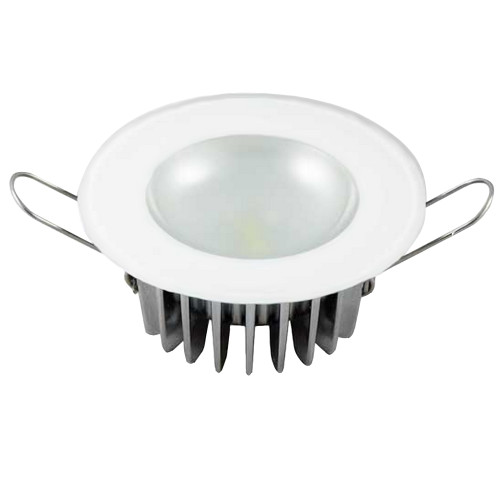 Lumitec Mirage - Flush Mount Down Light - Glass Finish - 3-Color Red/Blue Non Dimming w/White Dimming