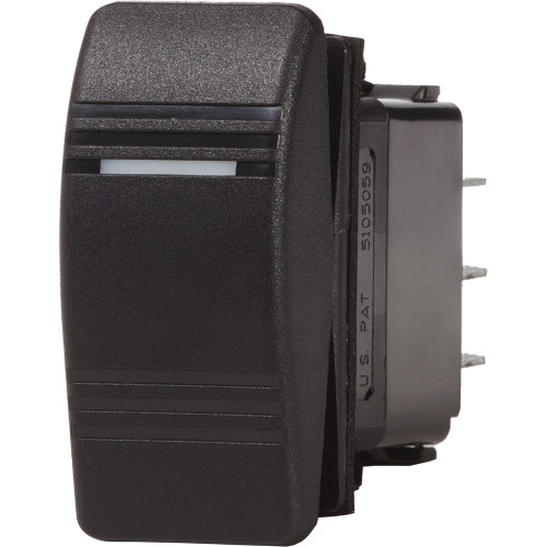Blue Sea 7945 Contura III Switch SPDT - (ON)-OFF-ON - Black
