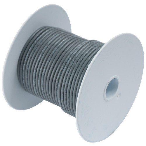 Ancor Grey 18 AWG Tinned Copper Wire - 100'