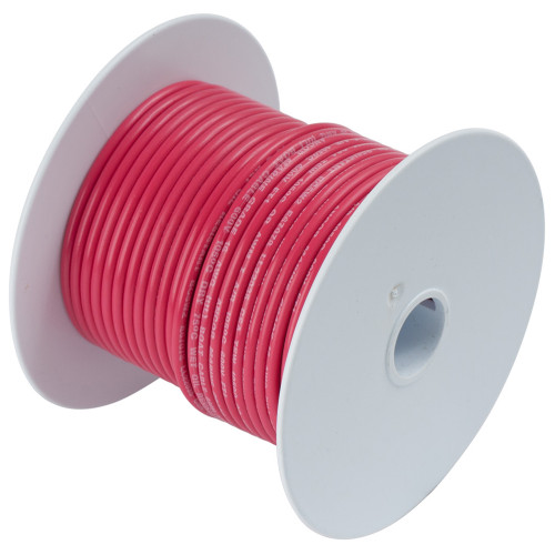 Ancor Red 18 AWG Tinned Copper Wire - 100'