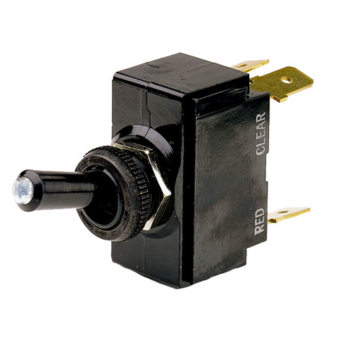 Cole Hersee Lighted Tip Toggle Switch SPST On-Off 4 Blade