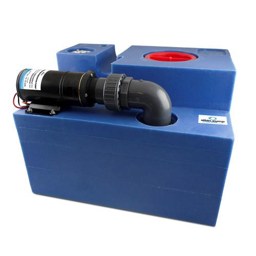 Albin Pump 12 Gallon (47L) Waste Water Tank CPL Macerator - 12V