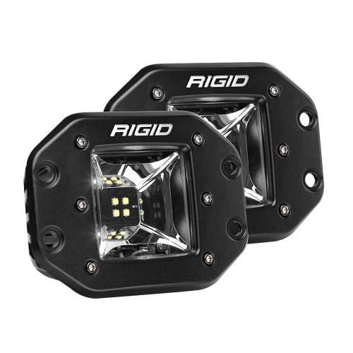 RIGID Industries Radiance Scene Lights - Flush Mount Pair - Black w/White LED Backlight
