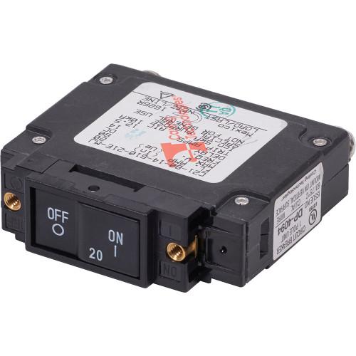 Blue Sea 7443 UL-489 Circuit Breaker - 20A Flat Rocker