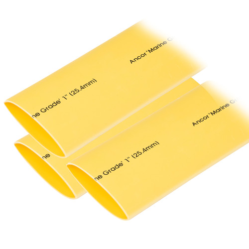 "Ancor Heat Shrink Tubing 1"" x 3"" - Yellow - 3 Pieces"