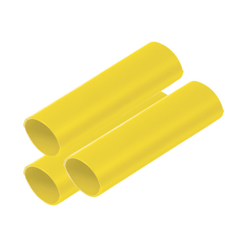 """Ancor Battery Cable Adhesive Lined Heavy Wall Battery Cable Tubing (BCT) - 3/4"""" x 12"""" - Yellow - 3 Pieces"""