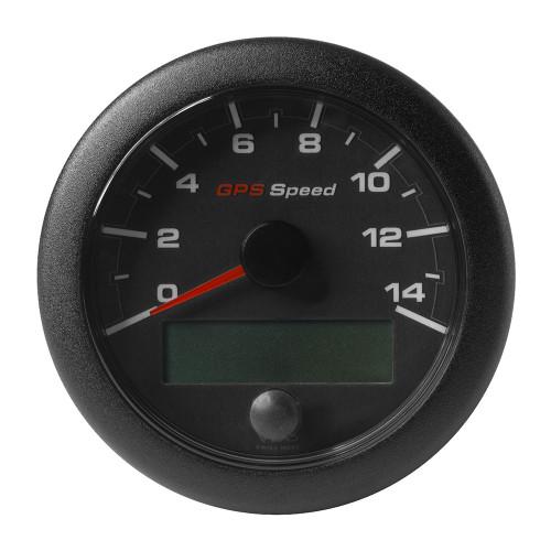 """VDO Marine 3-3/8"""" (85mm) OceanLink GPS Speedometer - Black Dial  Bezel (0-14 K/MPH/KMH)"""