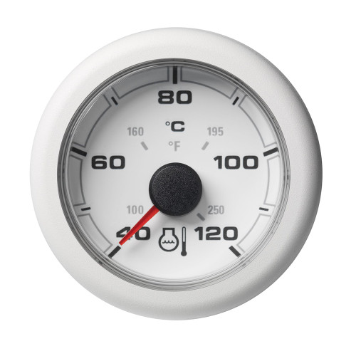 "VDO Marine 2-1/16"" (52mm) OceanLink Coolant Temperature Gauge - 120C/250F - White Dial  Bezel"