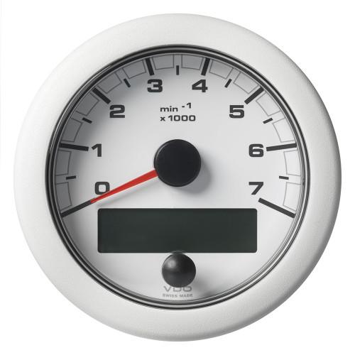 """VDO Marine 3-3/8"""" (85MM) OceanLink NMEA 2000 Tachometer - 7000 RPM - White Dial  Bezel"""