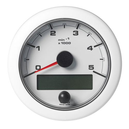 """VDO Marine 3-3/8"""" (85mm) OceanLink NMEA 2000 Tachometer - 5000 RPM - White Dial  Bezel"""