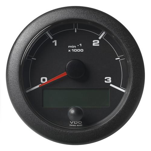 "VDO Marine 3-3/8"" (85mm) OceanLink Tachometer 3000 RPM - Black Dial  Bezel"