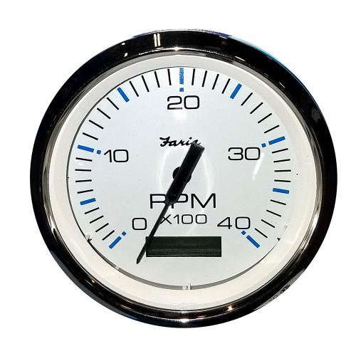 "Faria 4"" Tachometer w/Hourmeter (4000 RPM) (Diesel) Mech. Takeoff  Var. Ratio Alt"