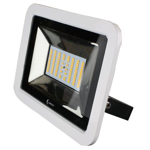 Lunasea 35W Slimline LED Floodlight, 12/24V, Cool White, 4800 Lumens, 3 Cord - White Housing