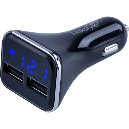 Sea-Dog Dual USB Power Plug w/Voltage/Amp Meter