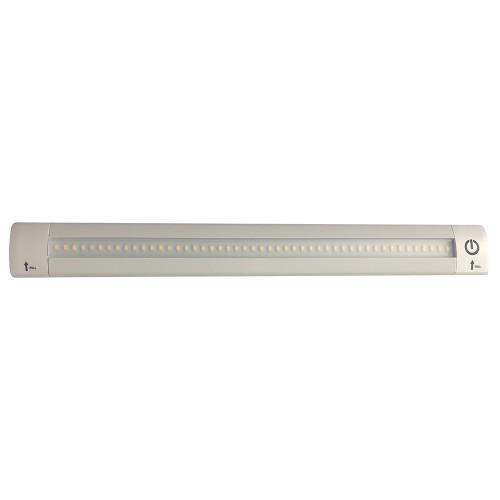 """Lunasea 12"""" Adjustable Linear LED Light w/Built-In Touch Dimmer Switch - Cool White"""