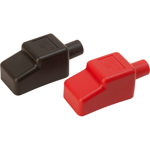 """Sea-Dog Battery Terminal Covers - Red/Back - 1/2"""""""