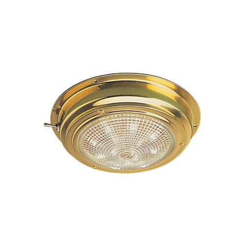 "Sea-Dog Brass LED Dome Light - 4"" Lens"