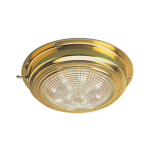"Sea-Dog Brass LED Dome Light - 5"" Lens"
