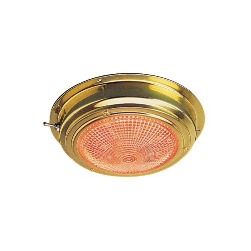 "Sea-Dog Brass LED Day/Night Dome Light - 5"" Lens"