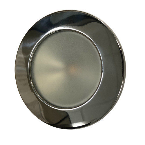 Lunasea Gen 3 Indoor/Outdoor Recessed 3.5 LED Light - 2700K 85 CRI Dimmable COB LED - Warm White/Polished SS Bezel