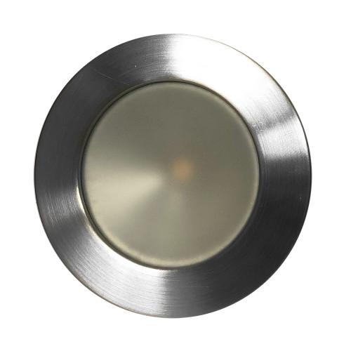 Lunasea Gen 3 Indoor/Outdoor Recessed 3.5 LED Light - 2700K 85 CRI Dimmable COB LED - Warm White/Brushed SS Bezel