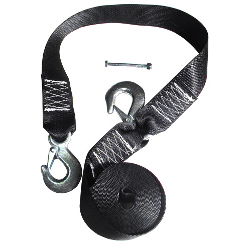 Rod Saver Winch Strap Replacement w/Safety Strap - 16