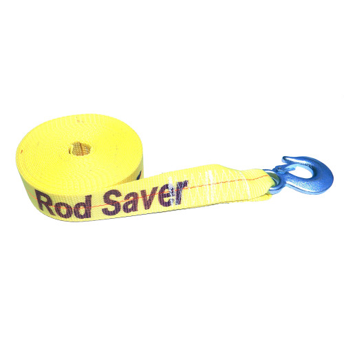 """Rod Saver Heavy-Duty Winch Strap Replacement - Yellow - 2"""" x 25"""
