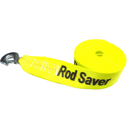 "Rod Saver Heavy-Duty Winch Strap Replacement - Yellow - 3"" x 20"