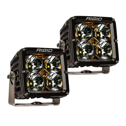 RIGID Industries Radiance Pod XL - Black Case w/Amber Backlight - Pair