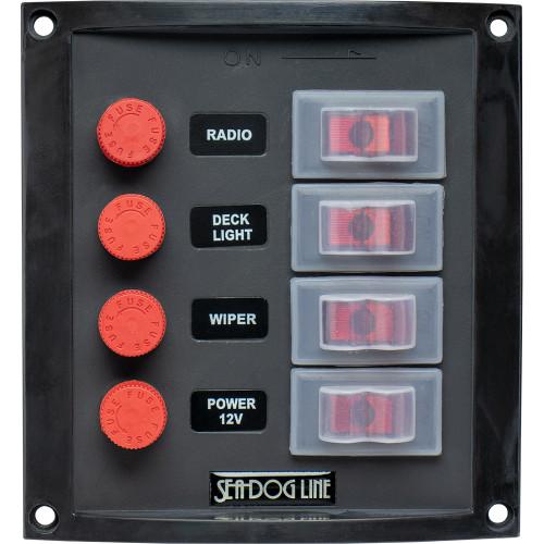 Sea-Dog Splash Guard Switch Panel Vertical - 4 Switch