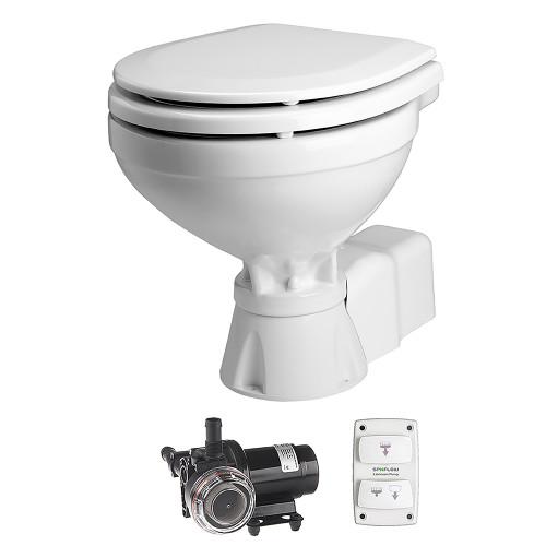 Johnson Pump AquaT Toilet Silent Electric Compact - 12V w/Pump