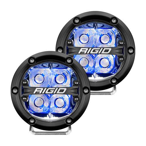 "RIGID Industries 360-Series 4"" LED Off-Road Spot Beam w/Blue Backlight - Black Housing"