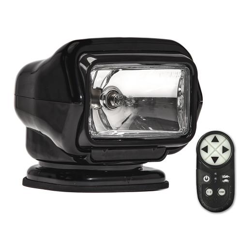 Golight Stryker ST Series Permanent Mount Black Halogen w/Wireless Handheld Remote
