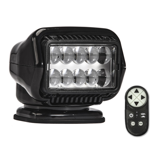 Golight Stryker ST Series Permanent Mount Black LED w/Wireless Handheld Remote