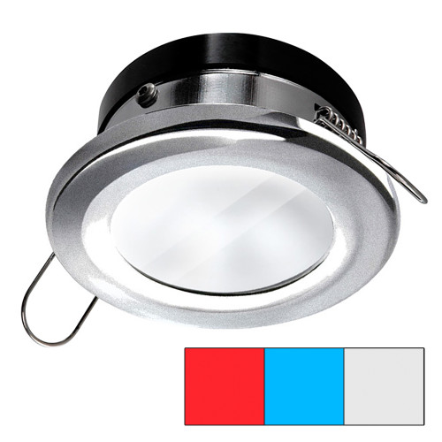 i2Systems Apeiron A1120 Spring Mount Light - Round - Red, Cool White  Blue - Brushed Nickel