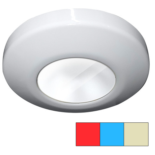 i2Systems Profile P1120 Tri-Light Surface Light - Red, Warm White  Blue - White Finish