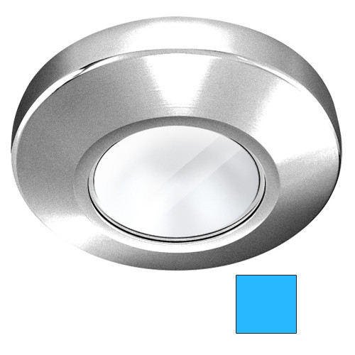 i2Systems Profile P1100 1.5W Surface Mount Light - Blue - Brushed Nickel Finish
