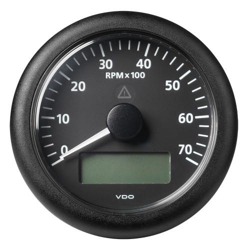 "VDO Marine 3-3/8"" (85MM) ViewLine Tachometer w/Multi-Function Display - 0 to 7000 RPM - Black Dial  Bezel"