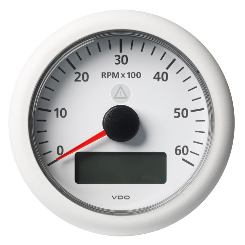 "VDO Marine 3-3/8"" (85MM) ViewLine Tachometer w/Multi-Function Display - 0 to 6000 RPM - White Dial  Bezel"