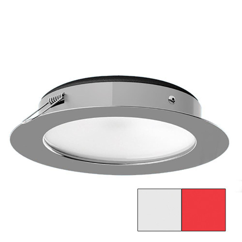 i2Systems Apeiron Pro XL A526 - 6W Spring Mount Light - Cool White/Red - Polished Chrome Finish