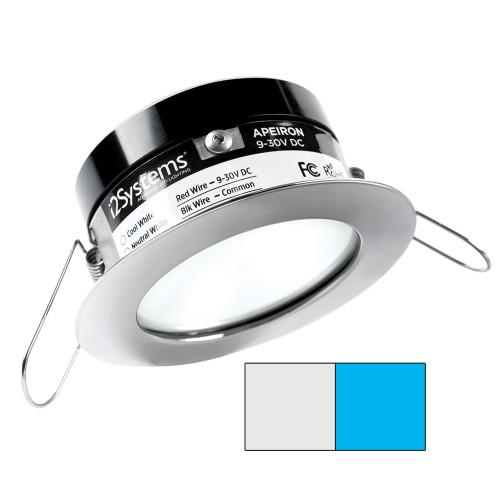 i2Systems Apeiron A503 3W Spring Mount Light - Cool White  Blue - Polished Chrome Finish
