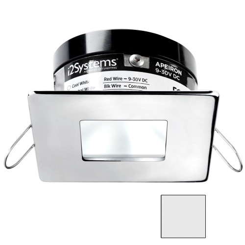 i2Systems Apeiron A503 3W Spring Mount Light - Square/Square - Cool White - Polished Chrome Finish