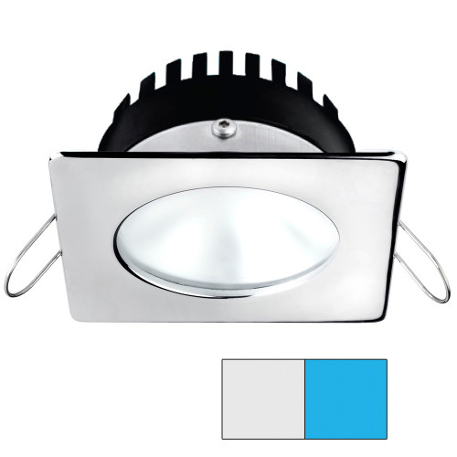 i2Systems Apeiron A506 6W Spring Mount Light - Square/Round - Cool White  Blue - Polished Chrome Finish