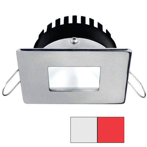 i2Systems Apeiron PRO A506 - 6W Spring Mount Light - Square/Square - Cool White  Red - Brushed Nickel Finish