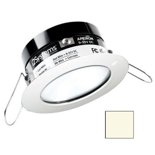 i2Systems Apeiron PRO A503 - 3W Spring Mount Light - Round - Neutral White - White Finish