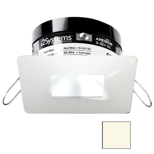 i2Systems Apeiron PRO A503 - 3W Spring Mount Light - Square/Square - Neutral White - White Finish