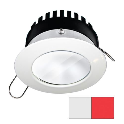 i2Systems Apeiron PRO A506 - 6W Spring Mount Light - Round - Cool White  Red - White Finish